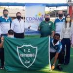 Direção do FC Rio Pardinho entrega doação à Copame